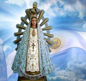 25 de mayo con la Virgen