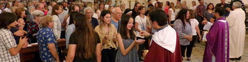 Toma de posesión del nuevo párroco de la parroquia San Marcos Evangelista de Marcos Paz