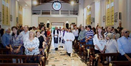 Toma de posesión del nuevo párroco de Sagrado Corazón de Jesús de Luján