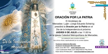 El Arzobispo presidirá la Oración por la Patria este 9 de Julio a las 11 hs en la Iglesia Catedral