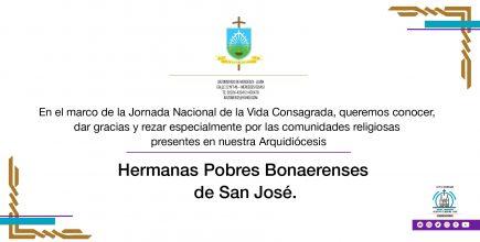 Celebramos la Vida Consagrada. Hermanas Pobres Bonaerenses de San José