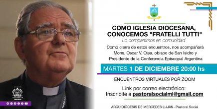 Mons. Ojea cerrará los encuentros de Fratelli Tutti el próximo 1 de diciembre
