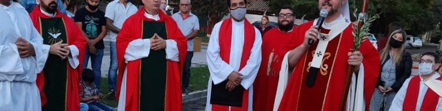 Domingo de Ramos. Inicio del Equipo Sacerdotal de la Parroquia Medalla Milagrosa de Gral. Rodríguez e Inmaculada Concepción de Las Malvinas