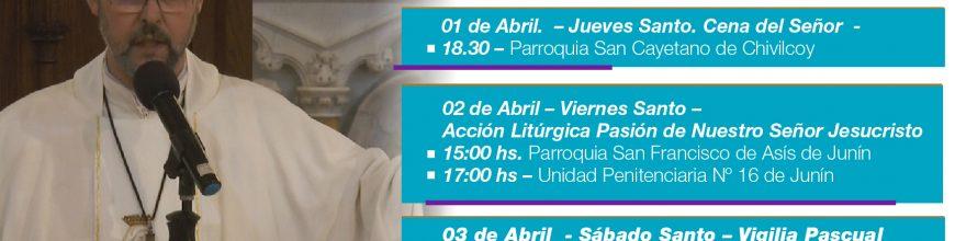 Celebraciones pascuales presididas por el Arzobispo de Mercedes Luján