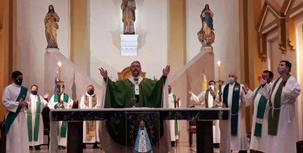 Misa por los enfermos y fallecidos de Covid en la ciudad de Junín