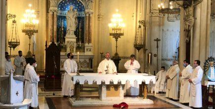 Misa en el primer aniversario de la pascua de Mons. Agustín
